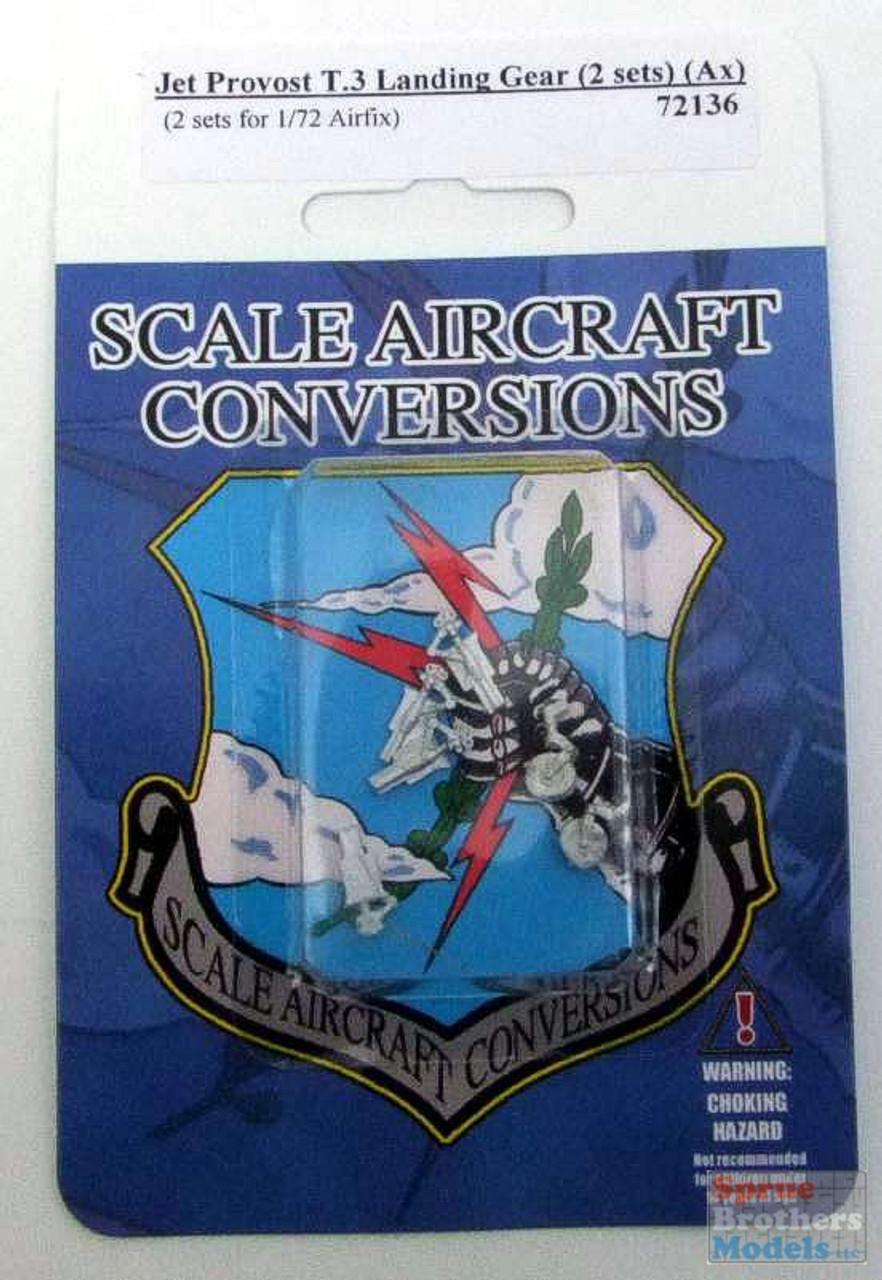 SAC72136 1:72 Scale Aircraft Conversions - Jet Provost T.3 Landing Gear [2 sets] (AFX kit)