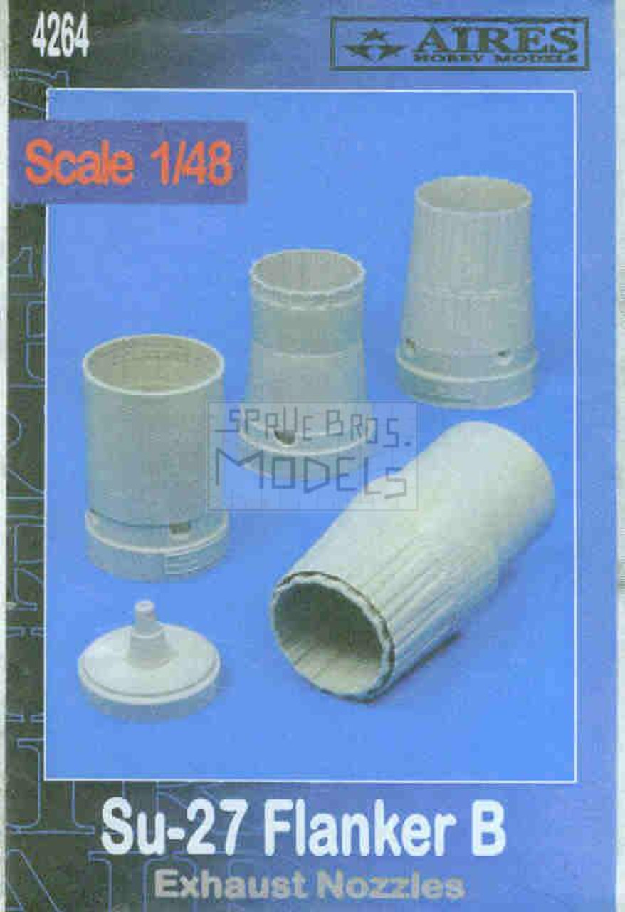 ARS4264 1:48 Aires Su-27 Flanker B Exhaust Nozzles (ACA kit) #4264