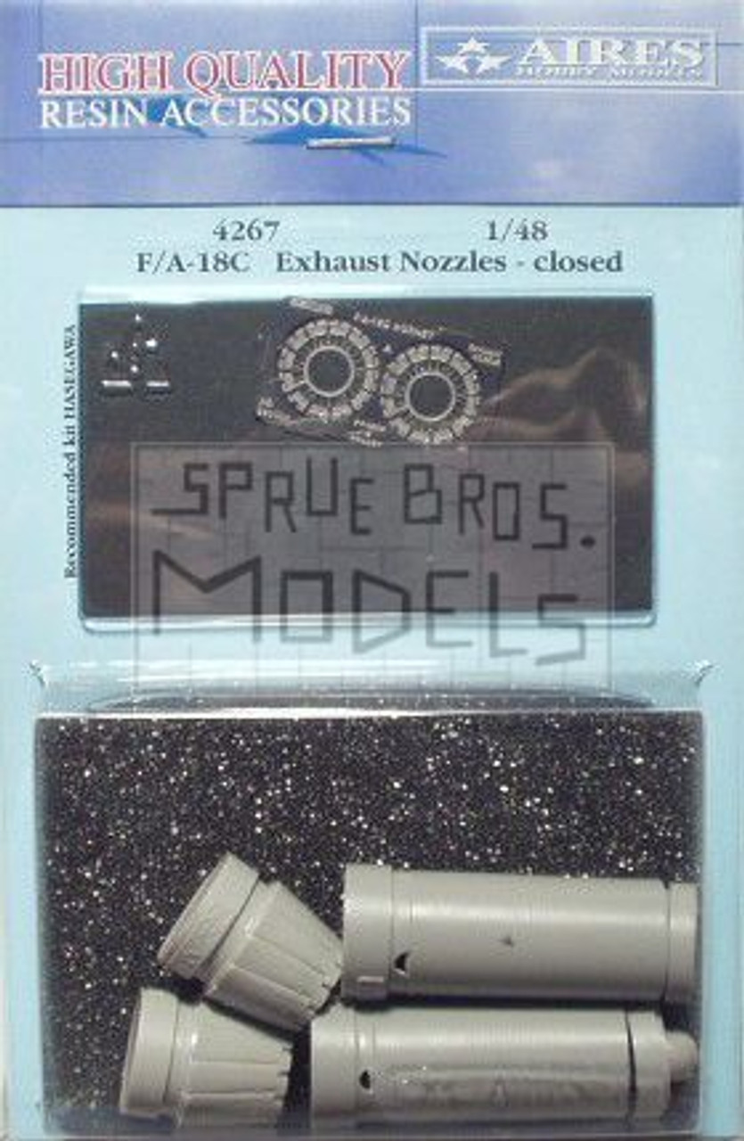 ARS4267 1:48 Aires F-18C Hornet Exhaust Nozzles - Closed (HAS kit) #4267
