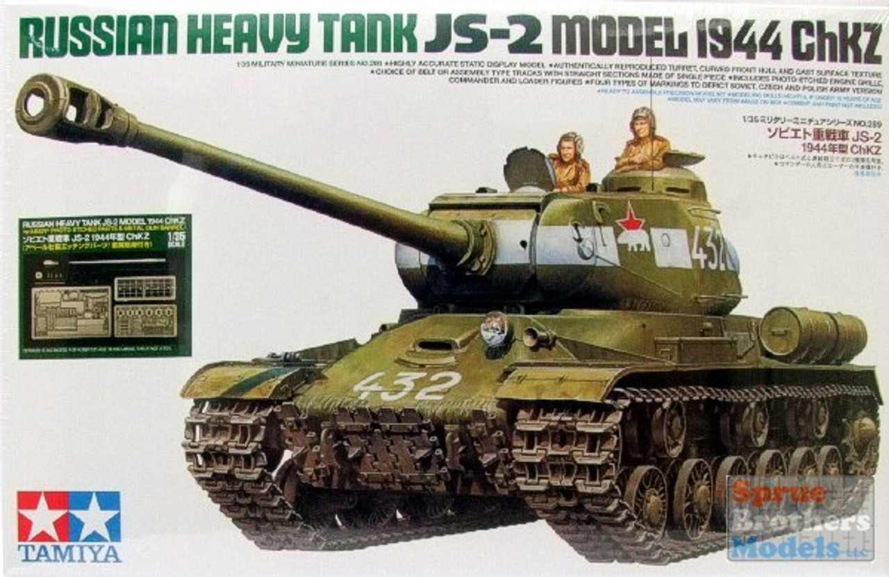 TAM25146 1:35 Tamiya Russian Heavy Tank JS-2 Model 1944 ChKZ with Aber PE and Gun Barrel #25146