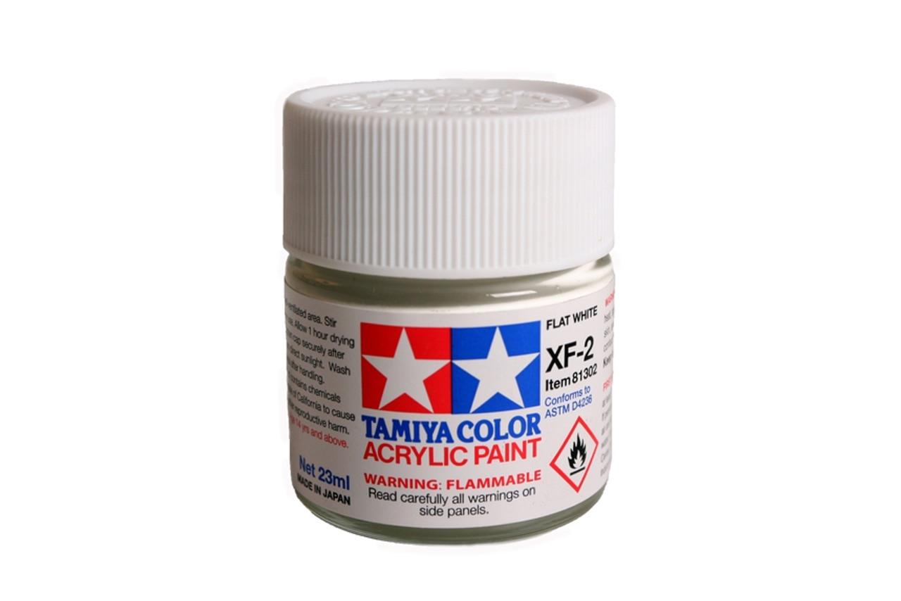 TAM81302 Tamiya Acrylic Paint XF-2 Flat White 23ml #81302