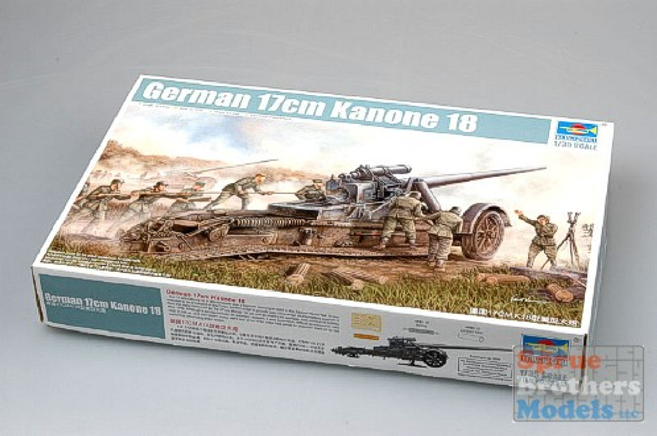 TRP02313 1:35 Trumpeter German 17cm Kanone 18 Heavy Artillery Gun #2313
