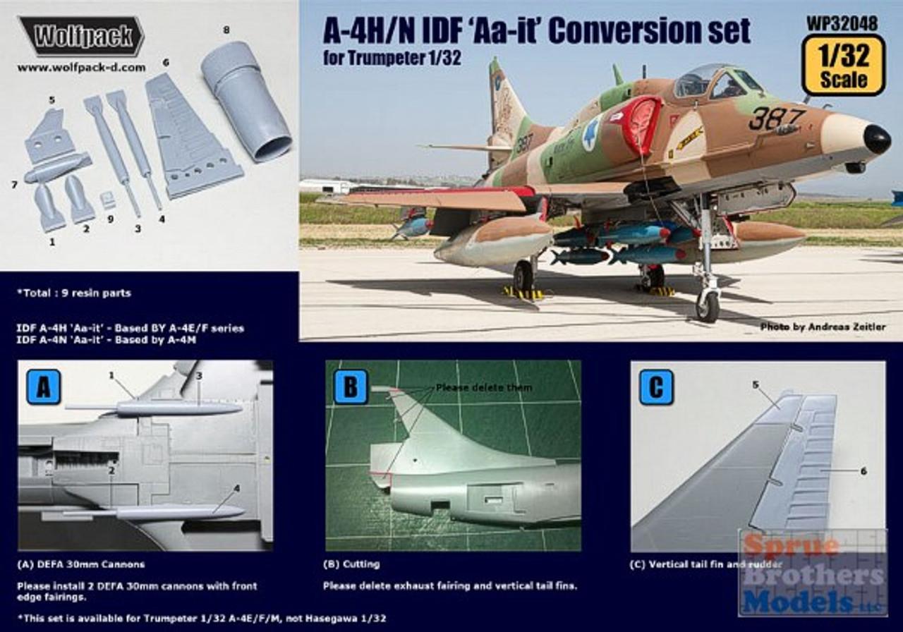 WPD32048 1:32 Wolfpack A-4H A-4N Skyhawk IDF Aa-it Conversion Set (TRP kit) #32048
