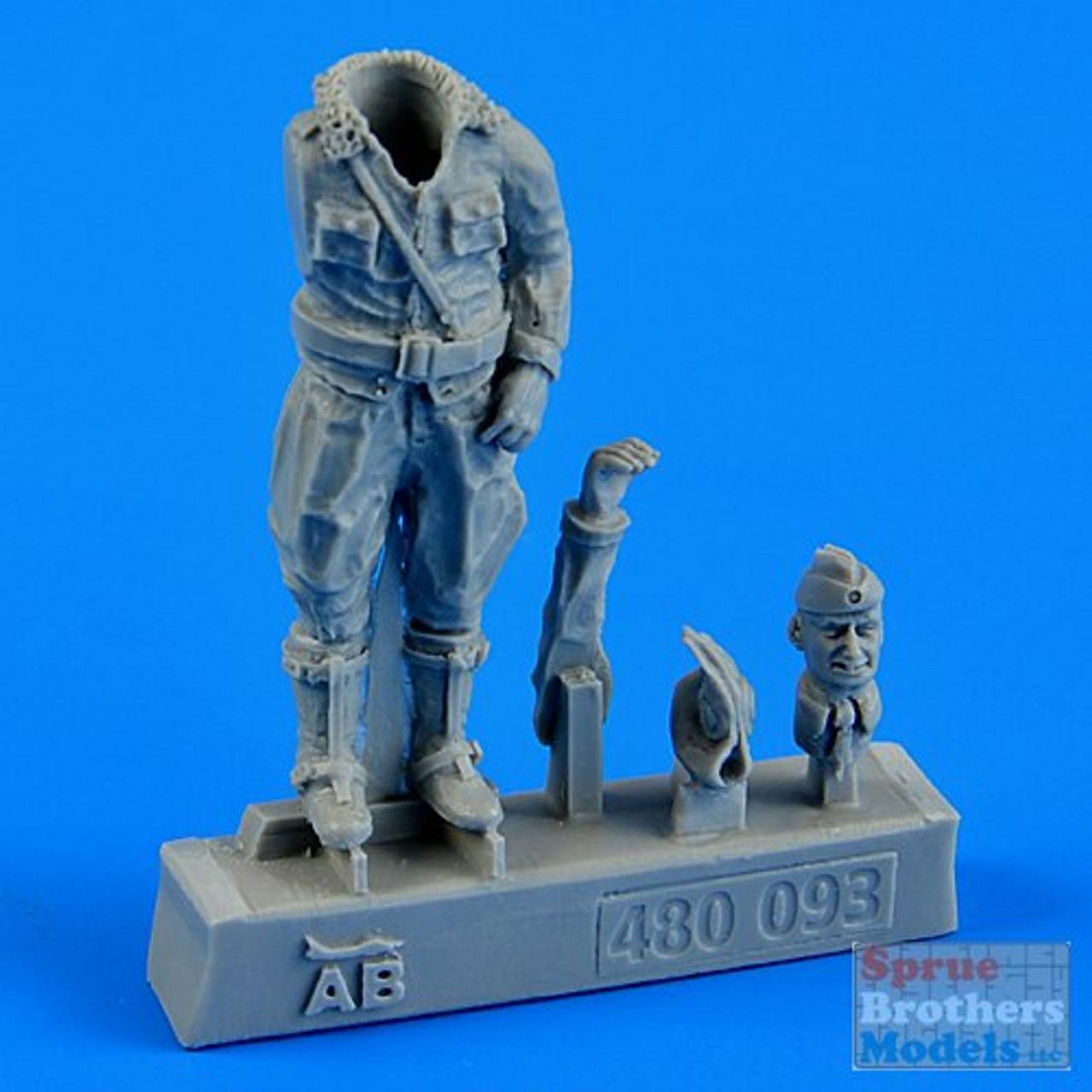 ARSAB480093 1:48 AeroBonus German Luftwaffe Pilot Figure WW2