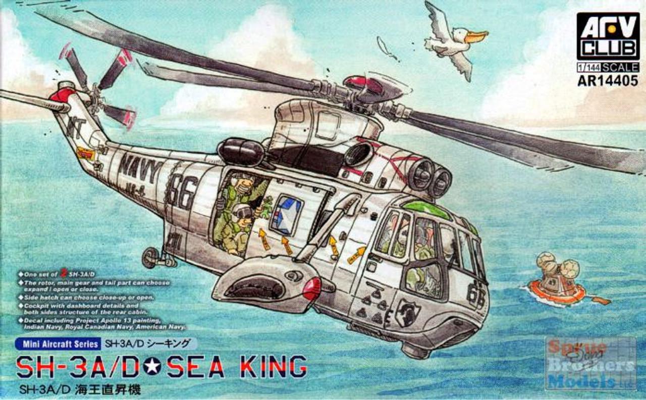 AFV14405 1:144 AFV Club SH-3A SH-3D Sea King Helicopter