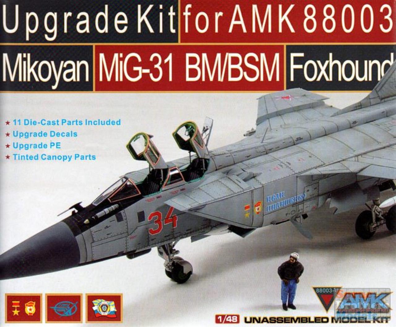 AMK88003-U 1:48 AMK Upgrade Set for MIG-31BM/BSM Foxhound (AMK kit)