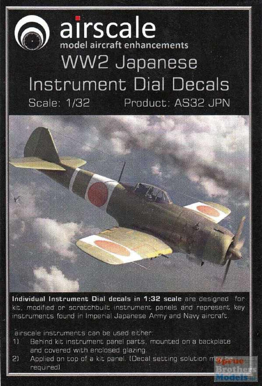 ASCAS32JPN 1:32 Airscale Instrument Dial Decals - WW2 Japanese