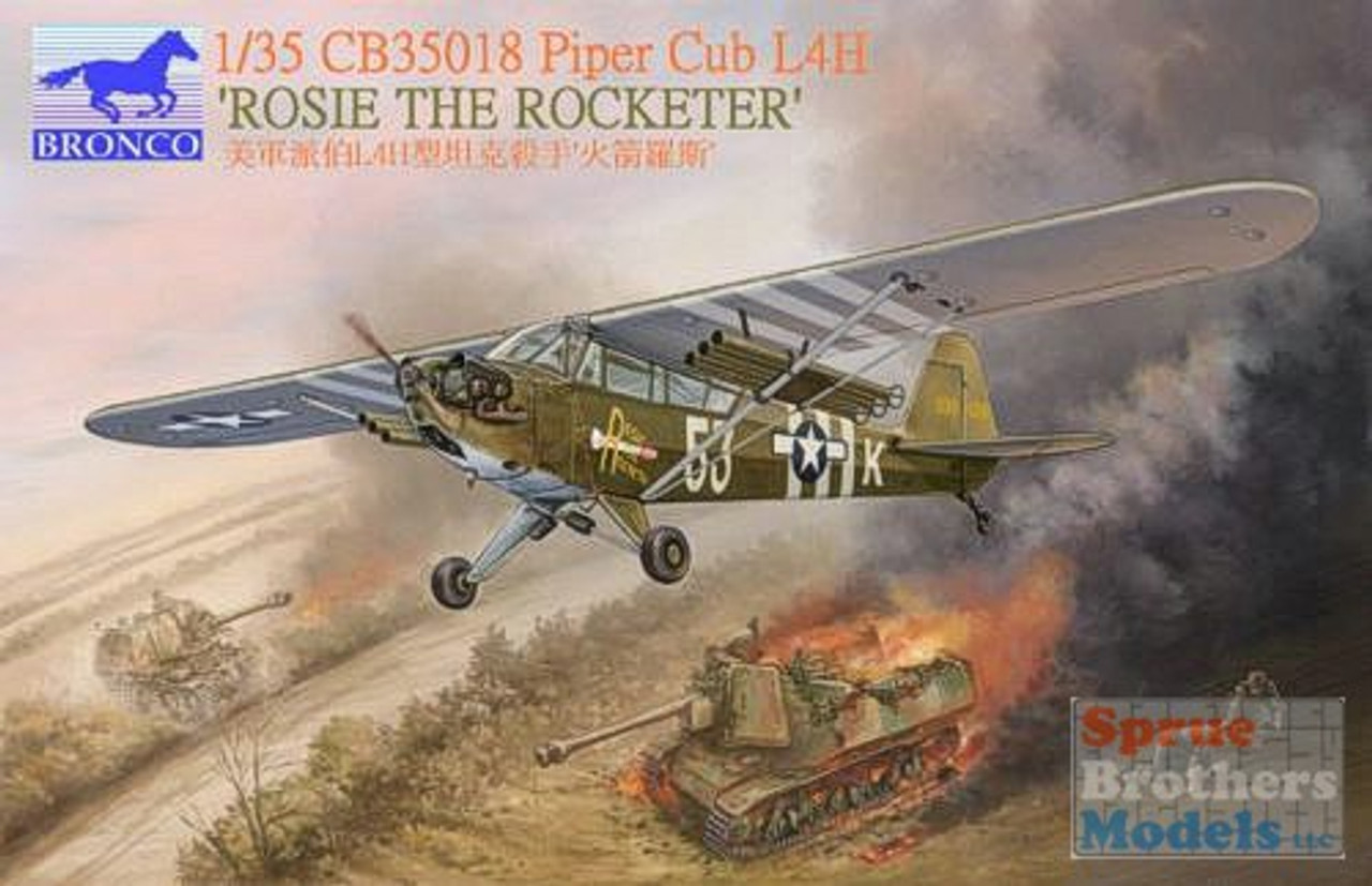 BNC35018 1:35 Bronco WWII Piper Cub L4H Rosie The Rocketeer