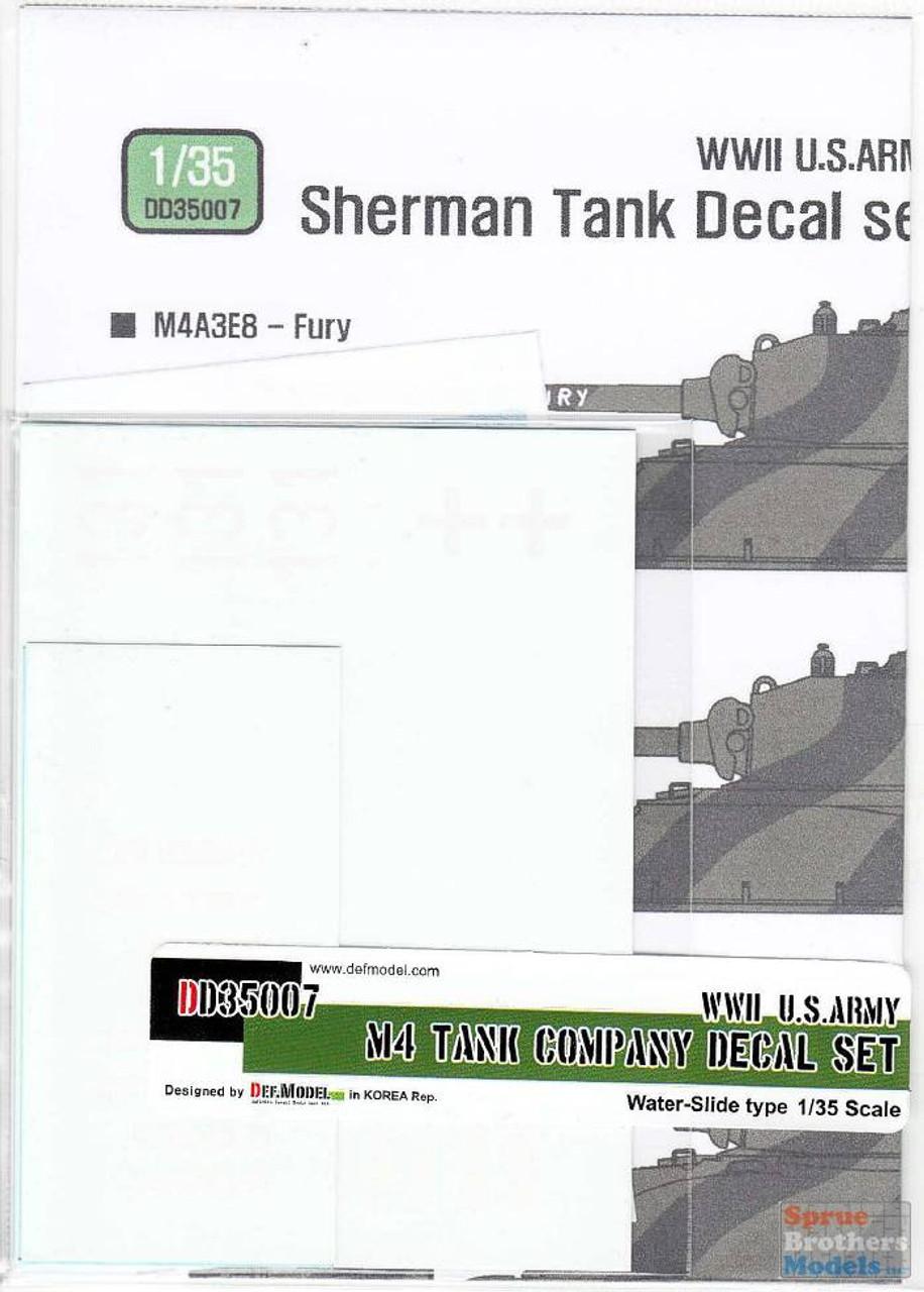 DEFDD35007 1:35 DEF WW2 US Army M4 Sherman Tank Company Decal Set