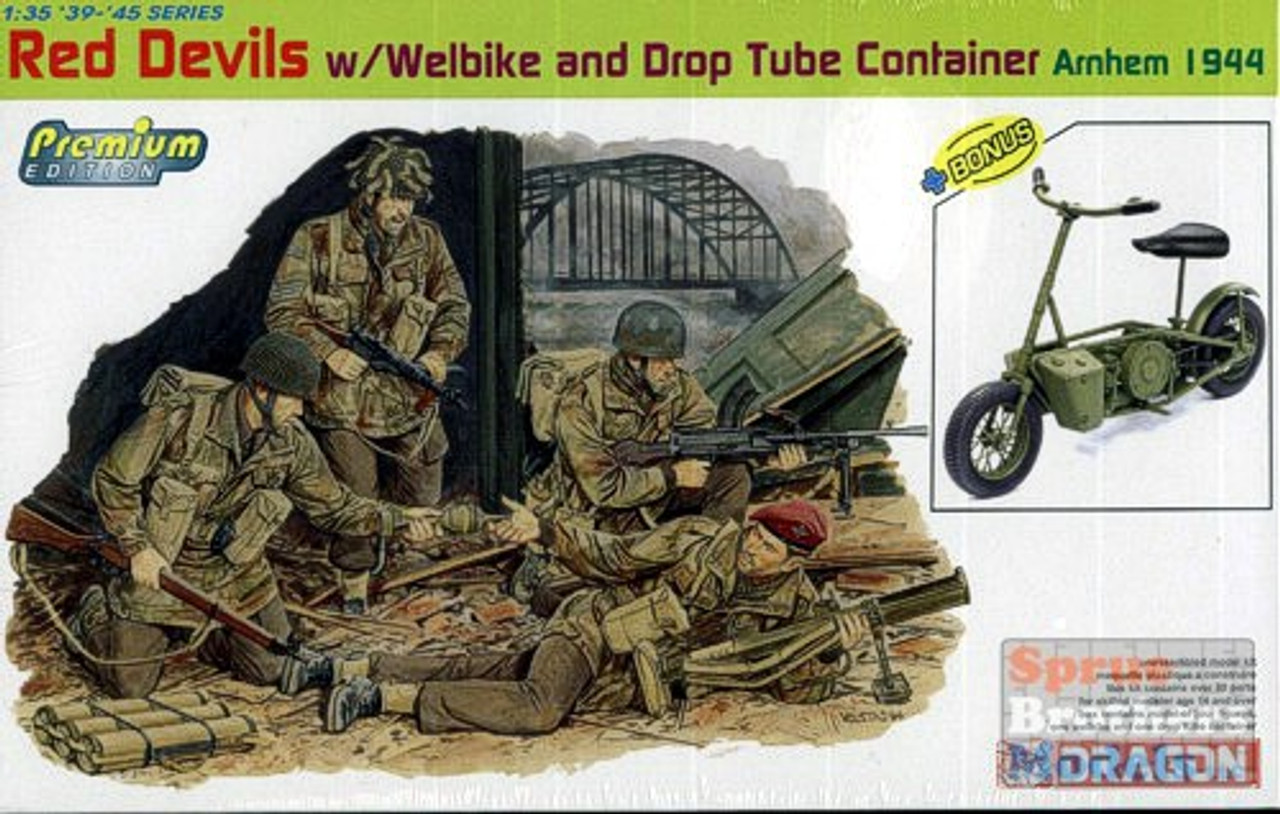 DML6585 1:35 Dragon Red Devils w/Welbike and Drop Tube Container, Arnhem 1944