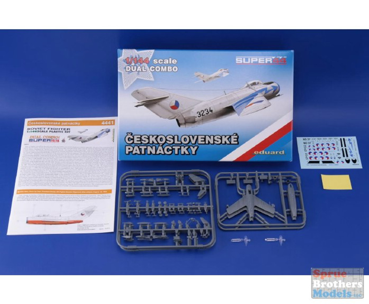 EDU04441 1:144 Eduard MiG-15 Fagot Ceskoslovenske Patnactky DUAL COMBO