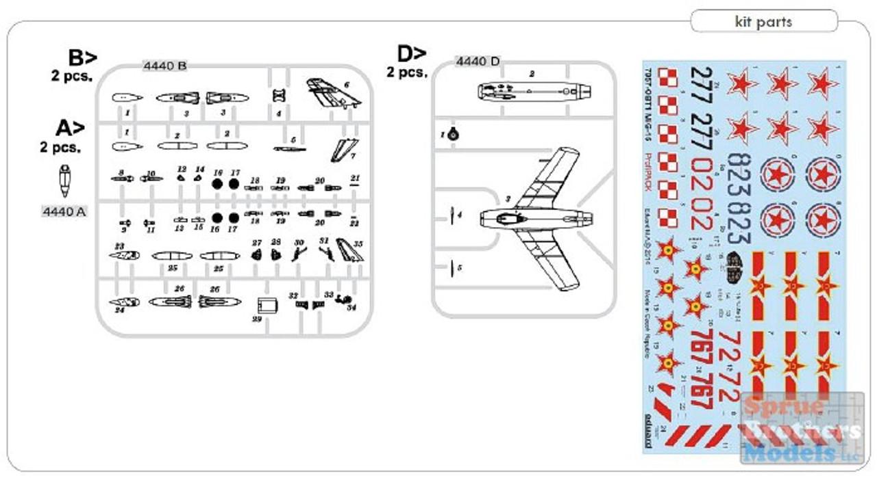EDU04443 1:144 Eduard MiG-15 Fagot DUAL COMBO