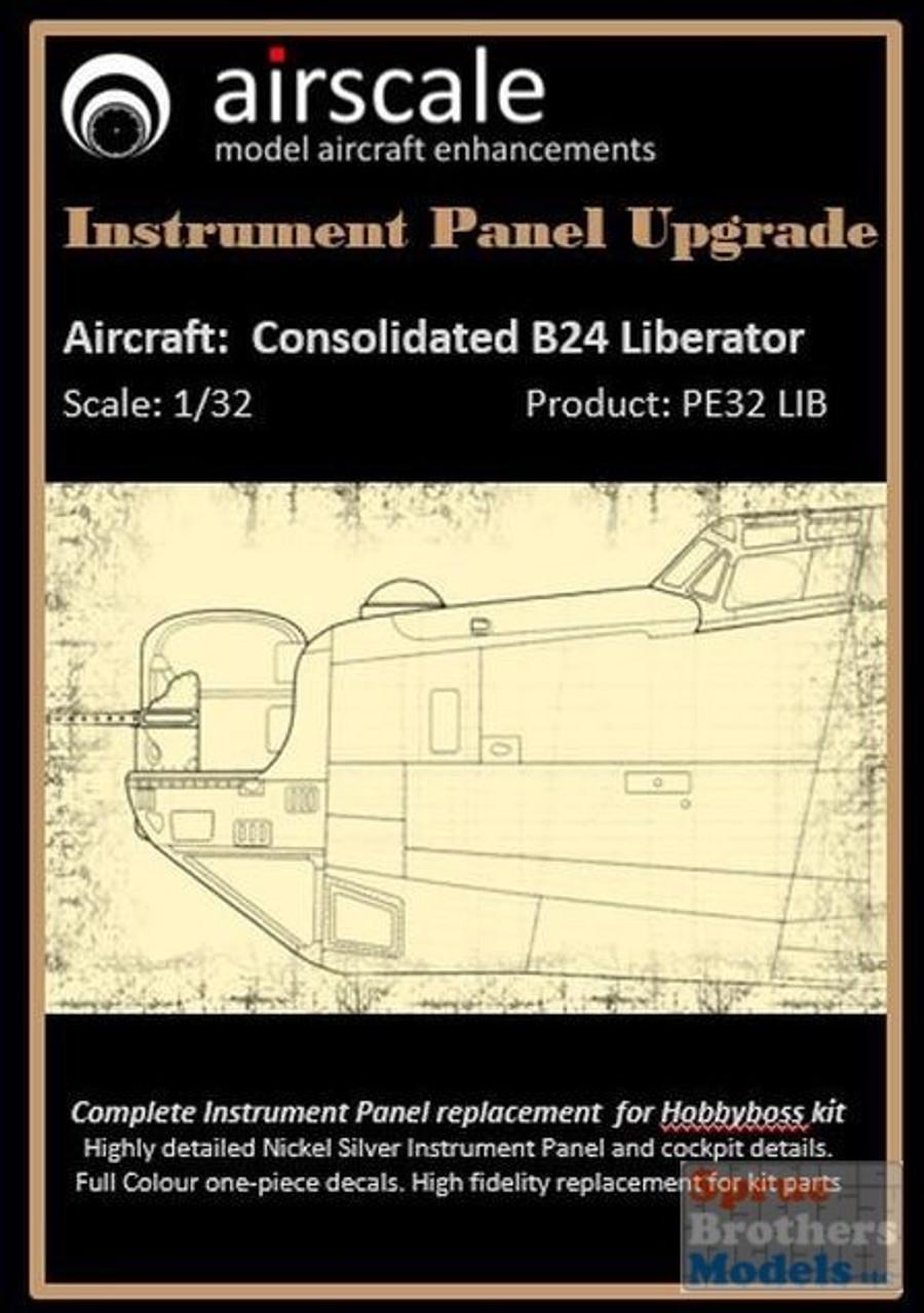 ASCPE32LIB 1:32 Airscale Instrument Panel Upgrade - B-24 Liberator