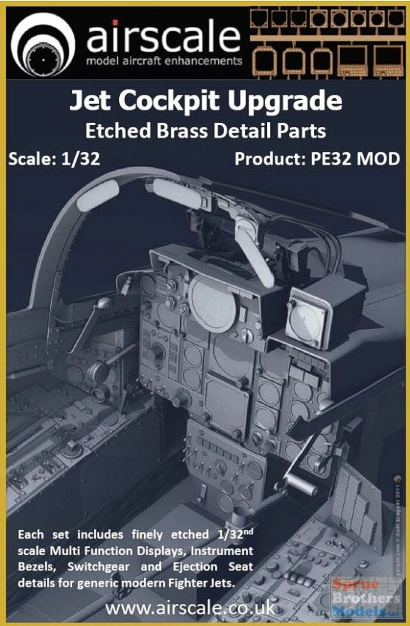 ASCPE32MOD 1:32 Airscale Jet Cockpit Upgrade - Etched Brass Detail Parts