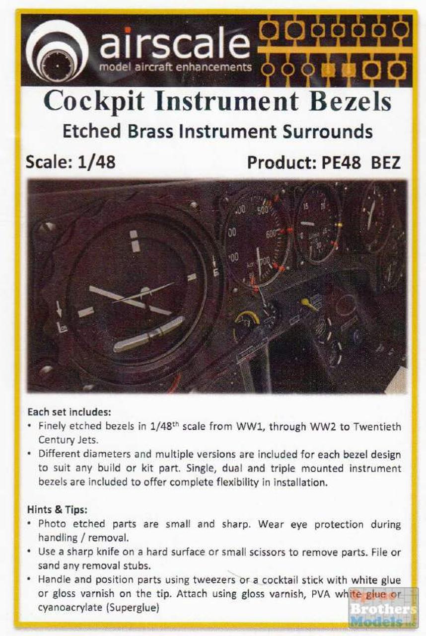 ASCPE48BEZ 1:48 Airscale Cockpit Instrument Bezels
