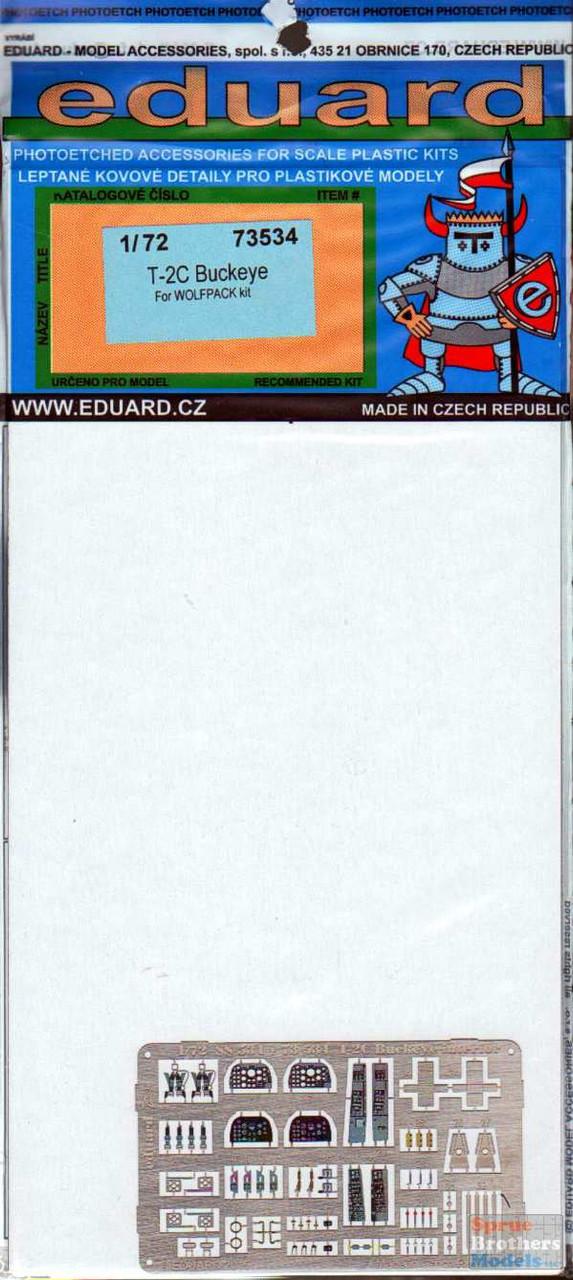 EDU73534 1:72 Eduard Color PE - T-2C Buckeye Detail Set (WPD kit)
