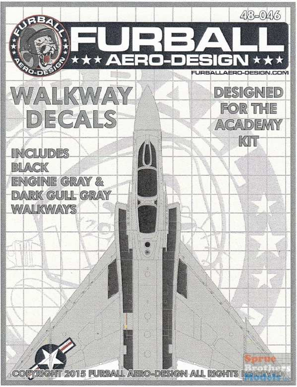 FUR48046 1:48 Furball Aero Design USN F-4 Phantom II Walkway Decals (ACA kit)