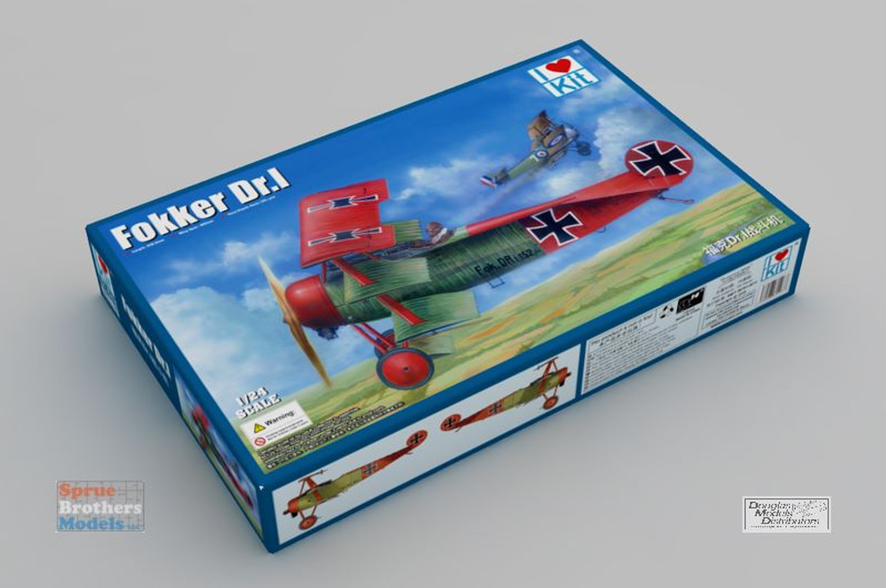 ILK62403 1:24 I Love Kit Fokker Dr.I