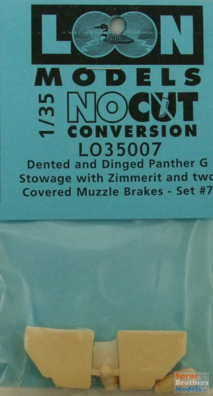 LOM35007 1:35 Loon Models - Dented and Dinged Panther G Stowage with Zimmerit & 2 Covered Muzzle Brakes Set #7