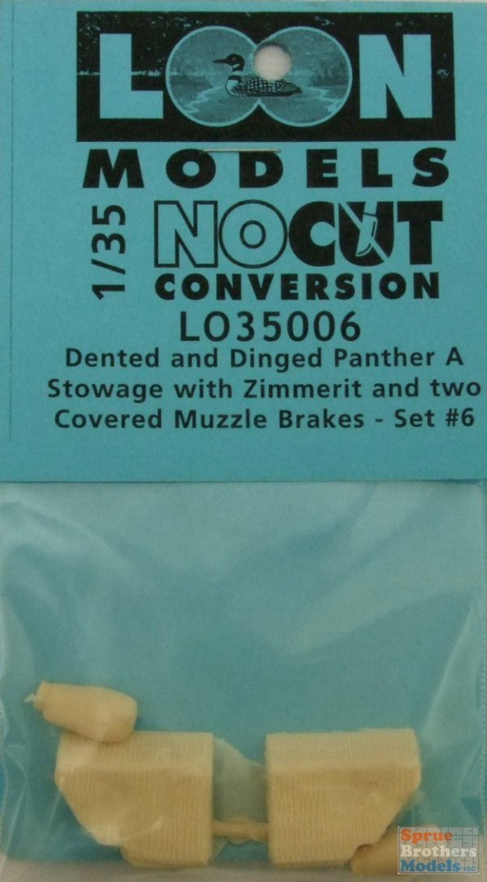 LOM35006 1:35 Loon Models - Dented and Dinged Panther A Stowage with Zimerrit & 2 Covered Muzzle Brakes Set #6