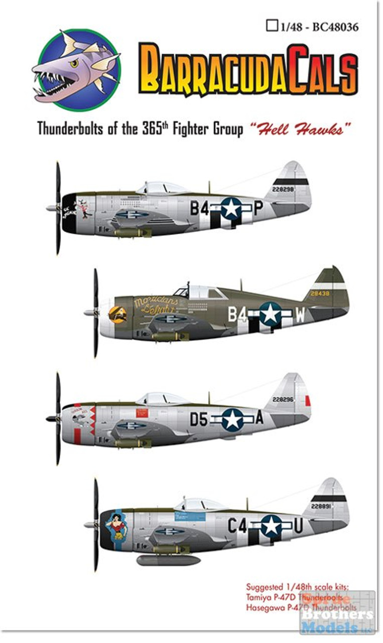 BARBC48036 1:48 BarracudaCals P-47D Thunderbolts of the 365th Fighter Group Hell Hawks