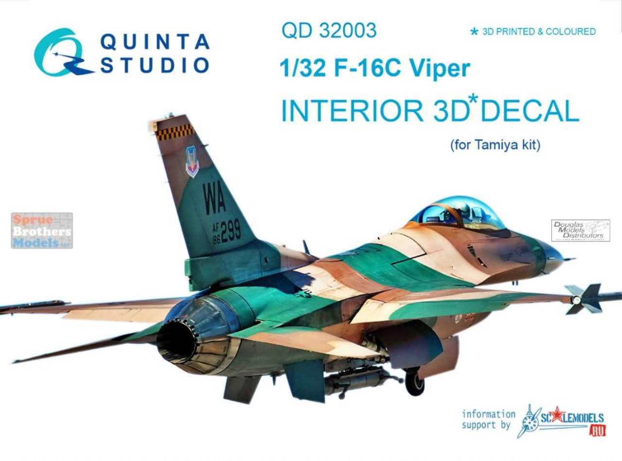 QTSQD32003 1:32 Quinta Studio Interior 3D Decal -F-16C Falcon (TAM kit)
