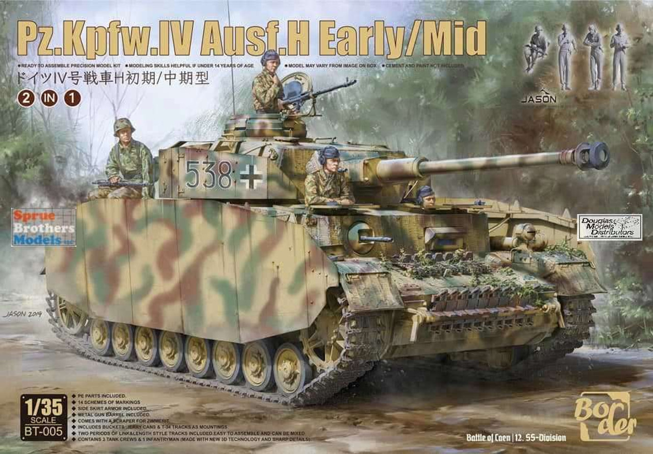 BDMBT005 1:35 Border Model Panzer Pz.Kpfw.IV Ausf.H Early/Mid (2in1)
