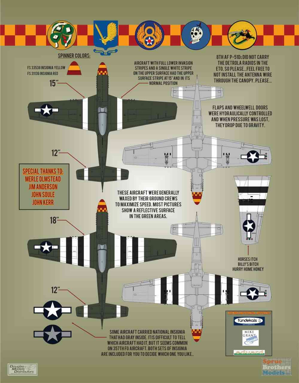 Superscale USA P-51D Mustangs #1 Decals