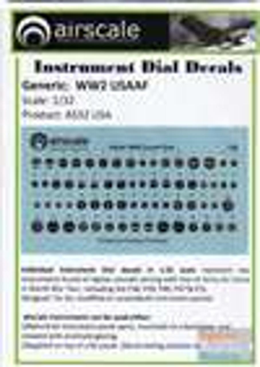 ASCAS32USA 1:32 Airscale Instrument Dial Decals - WW2 USAAF #AS32USA