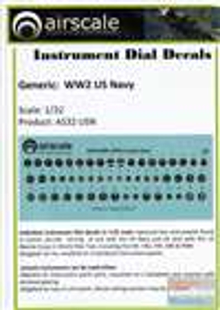 ASCAS32USN 1:32 Airscale Instrument Dial Decals - WW2 US Navy #AS32USN
