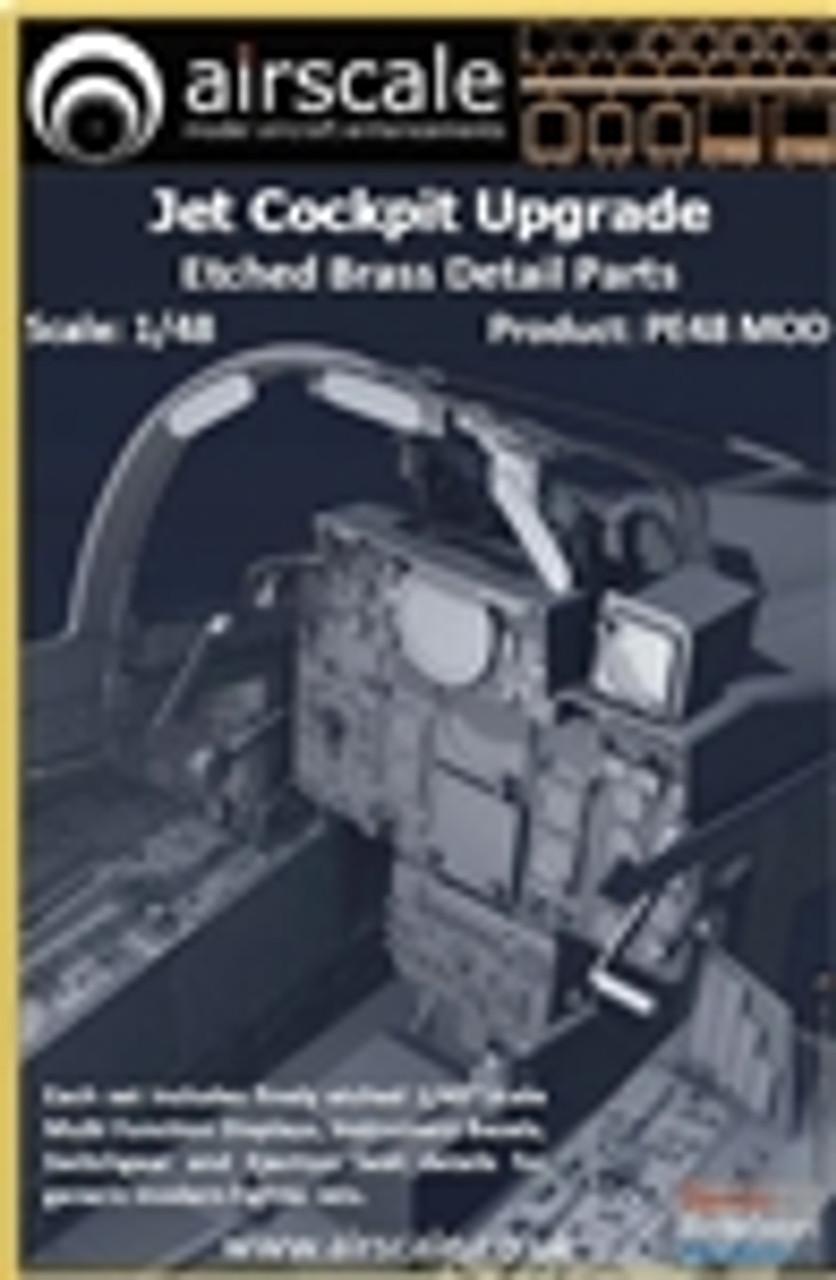 ASCPE48MOD 1:48 Airscale Jet Cockpit Upgrade - Etched Brass Detail Parts