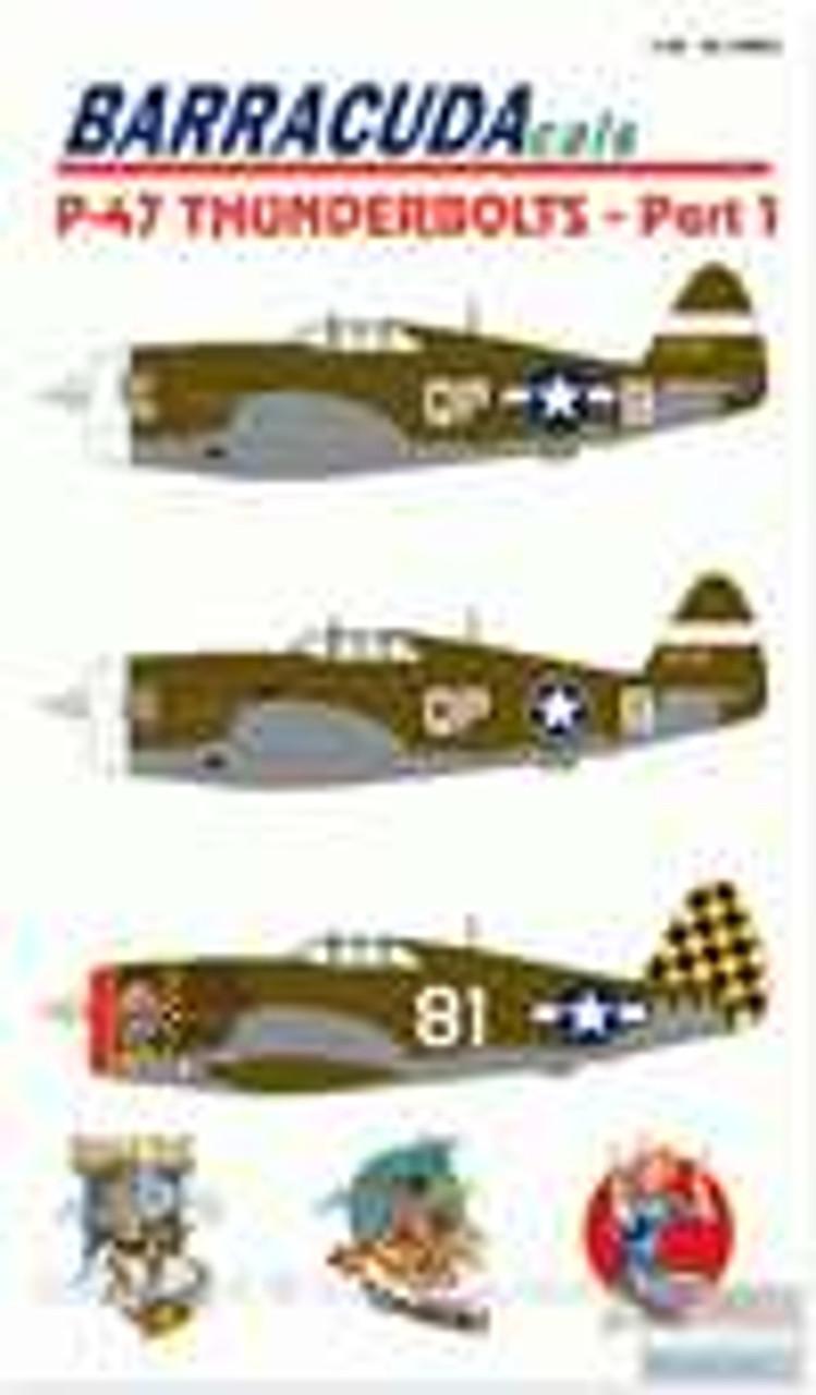 BARBC48001 1:48 BarracudaCals P-47 Thunderbolts Pt 1 #BC48001