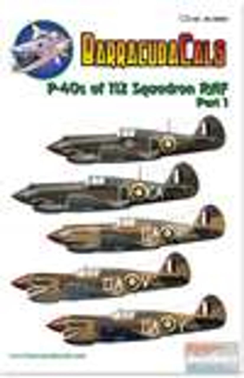 BARBC48005 1:48 BarracudaCals P-40 Warhawk RAF 112 Squadron Part 1 #BC48005