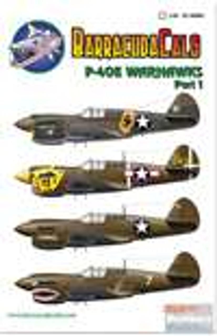 BARBC48006 1:48 BarracudaCals P-40E Warhawk Part 1 #BC48006