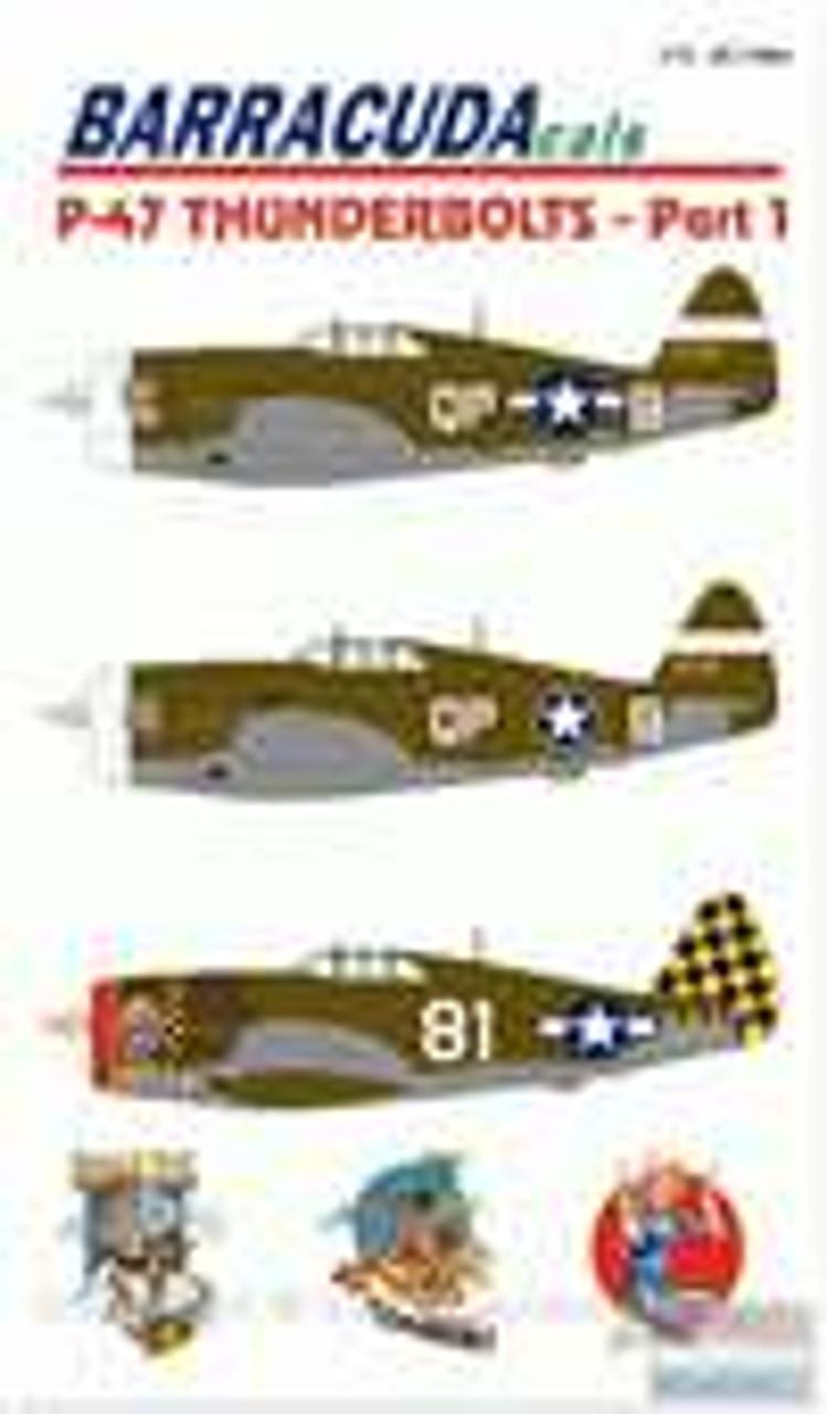 BARBC72001 1:72 BarracudaCals P-47 Thunderbolts Pt 1 #BC72001