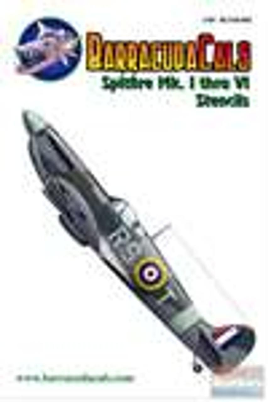 BARBCS48002 1:48 BarracudaCals Spitfire Mk. I through VI Stencils #BCS48002
