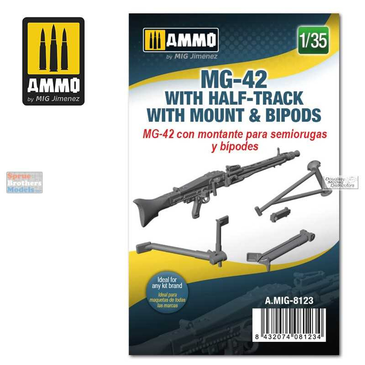 AMM8123 1:35 AMMO by Mig MG-42 with Half-Track with Mount & Bipods