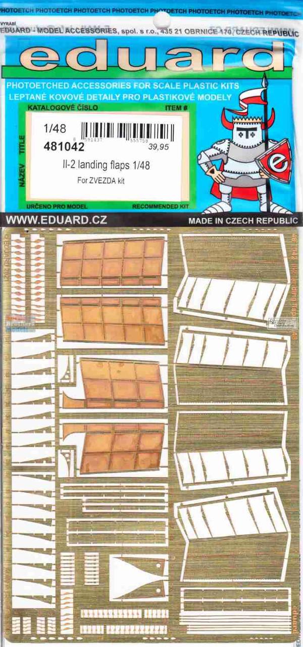 EDU481042 1:48 Eduard PE - IL-2 Stormovik Landing Flaps (ZVE kit)