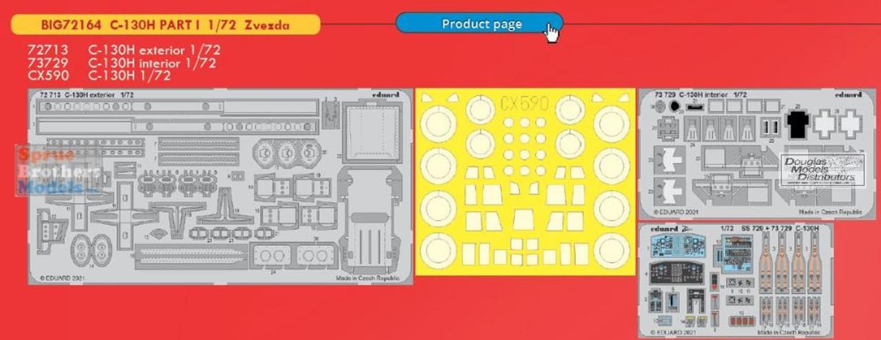 EDUBIG72164 1:72 Eduard BIG ED C-130H Hercules Super Detail Set (ZVE kit)