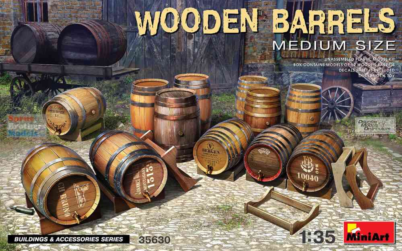 MIA35630 1:35 Miniart Wooden Barrels (Medium Size)
