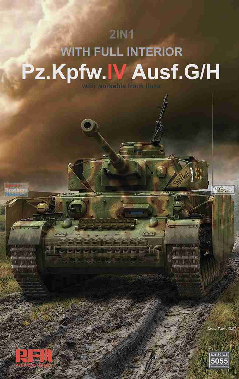 RFMRM5055 1:35 Rye Field Model Panzer Pz.Kpfw.IV Ausf.G/H with Workable Track Links [Full Interior]