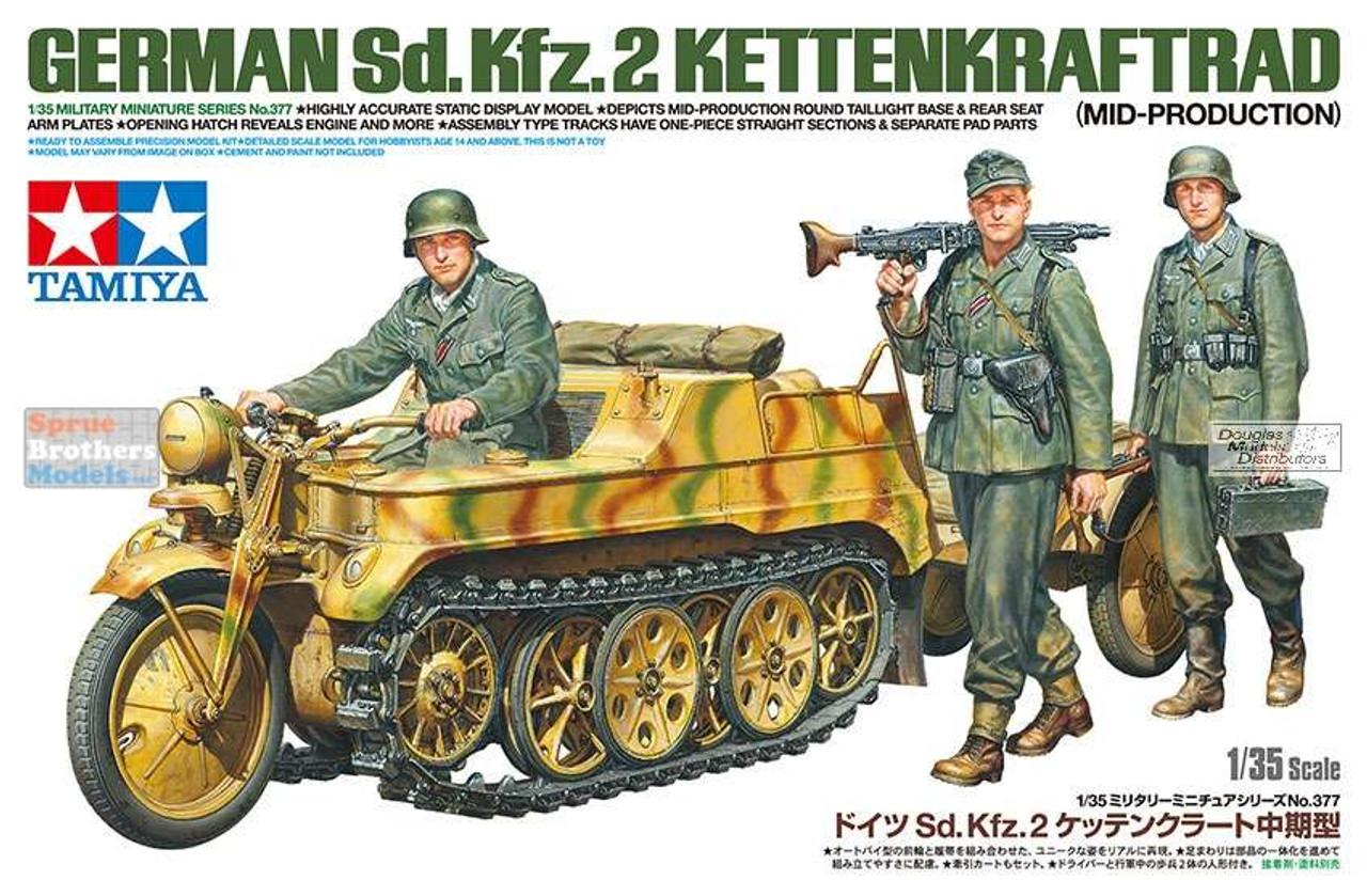 TAM35377 1:35 Tamiya German Sd.Kfz.2 Kettenkraftrad Mid-Production