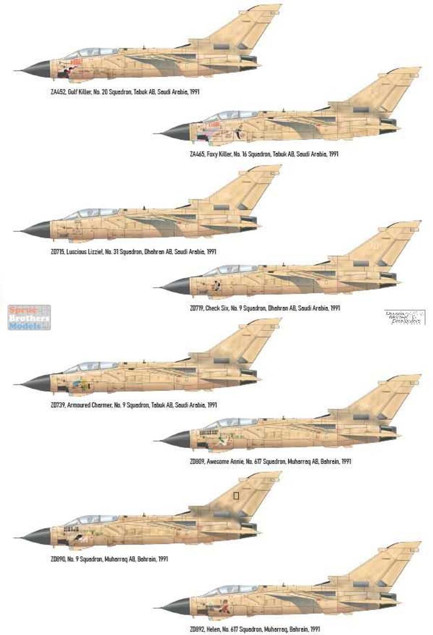 EDU02137 1:72 Eduard Desert Babes (Tornado GR.1 in the Granby / Desert Storm)