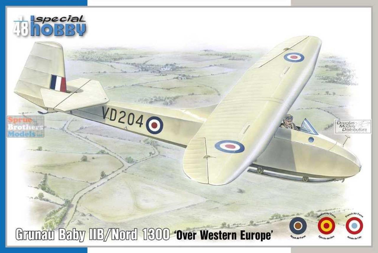 SPH48203 1:48 Special Hobby Grunau Baby IIB/Nord 1300 'Over Western Europe'