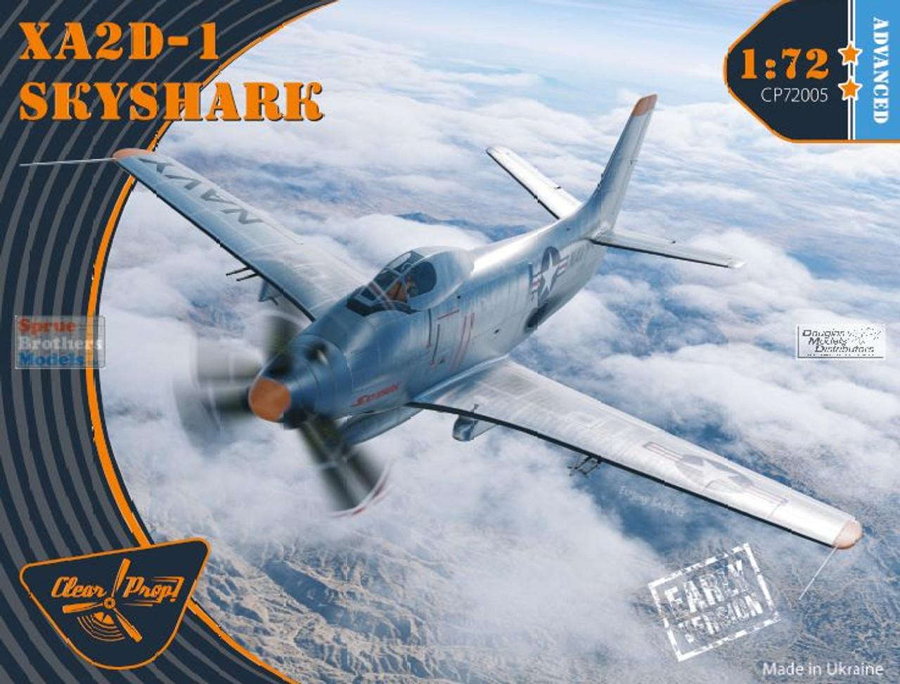 CLPCP72005 1:72 Clear Prop Models XA2D-1 Skyshark