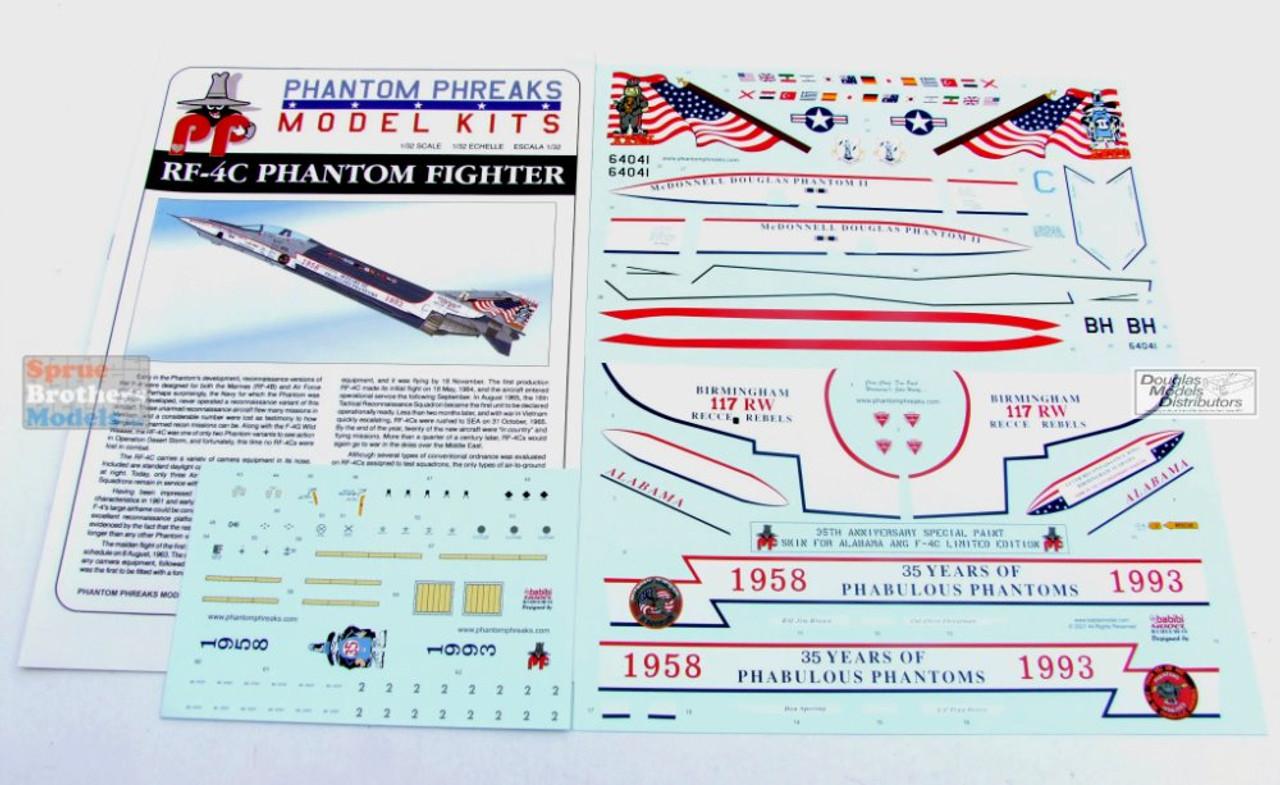 PPDK32001 1:32 Phantom Phreaks Models - RF-4C Phantom II Alabama ANG 35th Anniversary Special