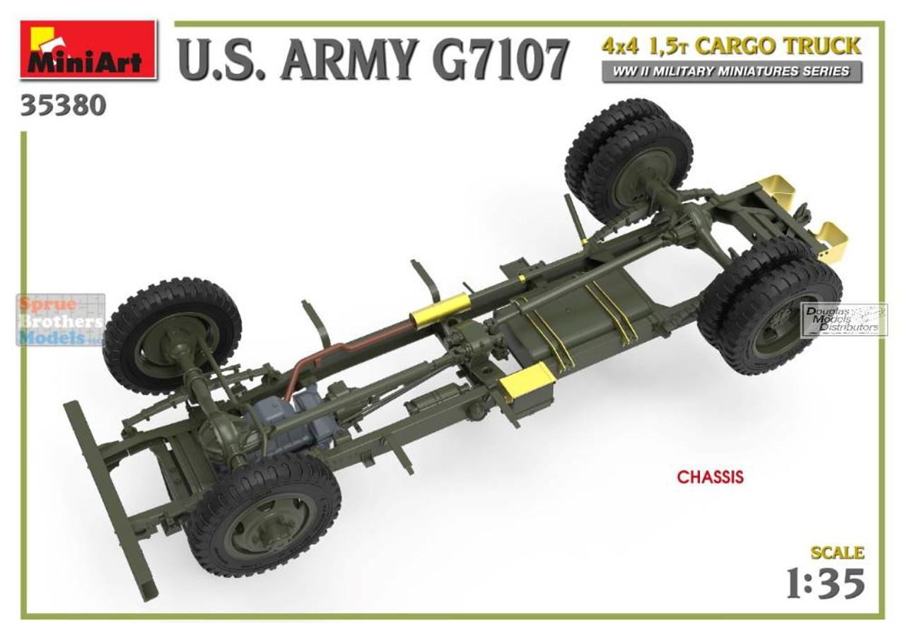 MIA35380 1:35 Miniart US Army G7107 4x4 1.5T Cargo Truck