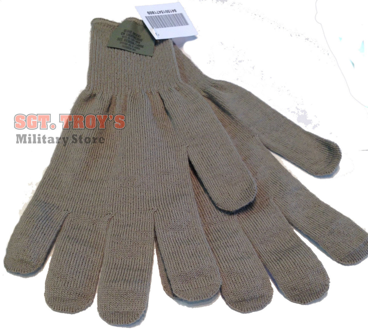 Made in US Army Foliage Green CW Lightweight Military ACU Inserts Mittens Gloves