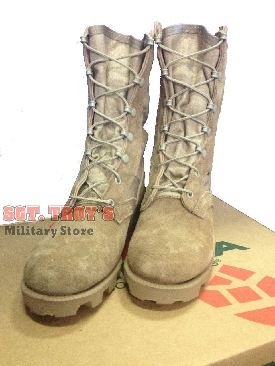 d22d27f7a4a ALTAMA USGI MILITARY DESERT HOT WEATHER BOOTS 12.5 YOUTH to ADULT 4 NEW