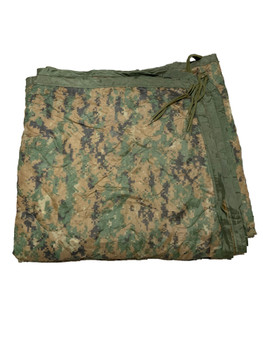Military Marpat USMC Woodland Digital Poncho Liner Woobie Blanket used
